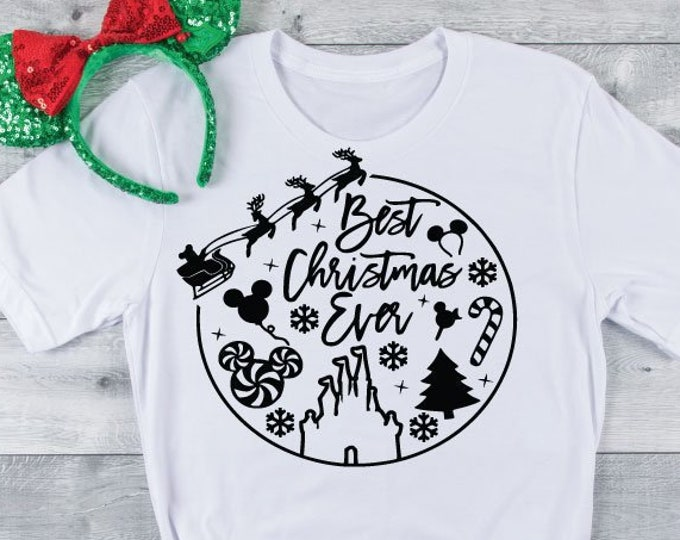 Best Christmas Ever - Disney Christmas - Christmas at Disney - Very Merry Christmas - Magical Vacation Tee, Tie-Dye