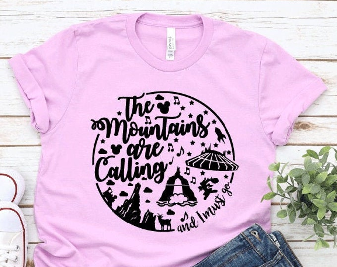 The Mountains Are Calling - Adult, Youth, Toddler, and Tanks-Over 100 Color Choices