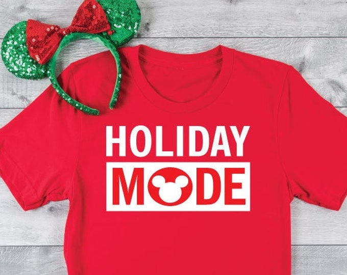 Holiday Mode -  Magical Vacation Tee - Adult, Youth, Toddler, and Tanks-Over 100 Color Choices