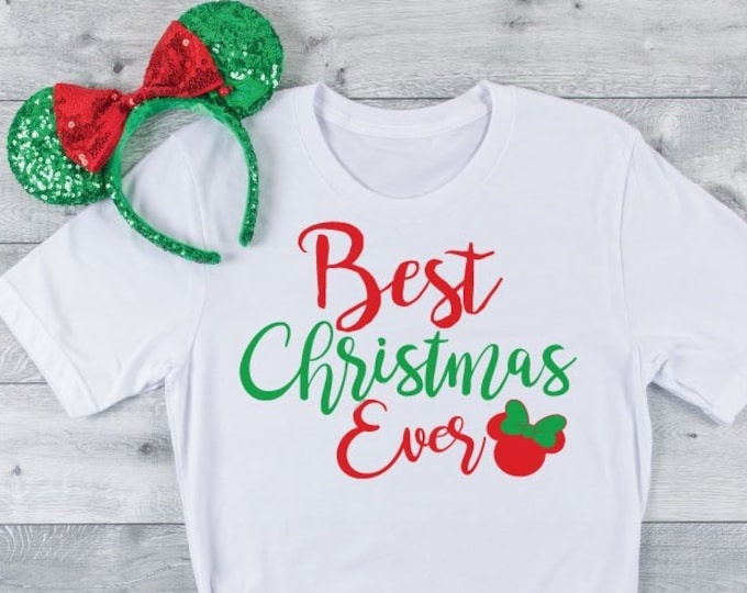 Best Christmas Ever Minnie - Magical Vacation Tee - Adult, Youth, Toddler, and Tanks-Over 100 Color Choices