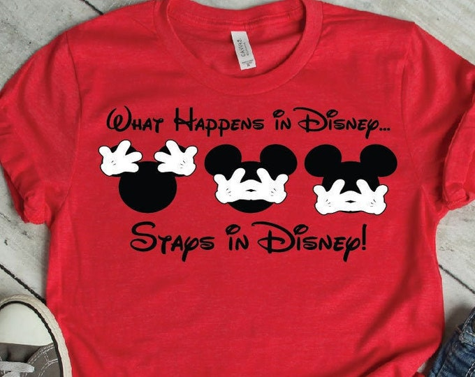 What Happens in Disney-  Magical Vacation Tee - Adult, Youth, Toddler, and Tanks-Over 100 Color Choices