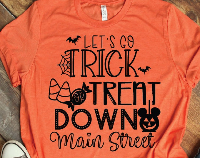 Trick or Treat - Disney Halloween Shirt - Magic Kingdom - Magical Vacation Tee - Adult, Youth, Toddler, and Tanks-Over 100 Color Choices