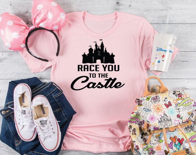 Race You to the Castle - Magical Vacation Tee - Adult, Youth, Toddler, and Tanks-Over 100 Color Choices