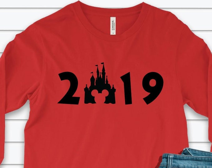 Happy New Year 2019 - Disney Castle - Adult and Youth sizes