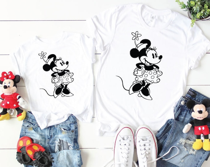 Vintage Minnie-  Magical Vacation Tee - Adult, Youth, Toddler, and Tanks-Over 100 Color Choices