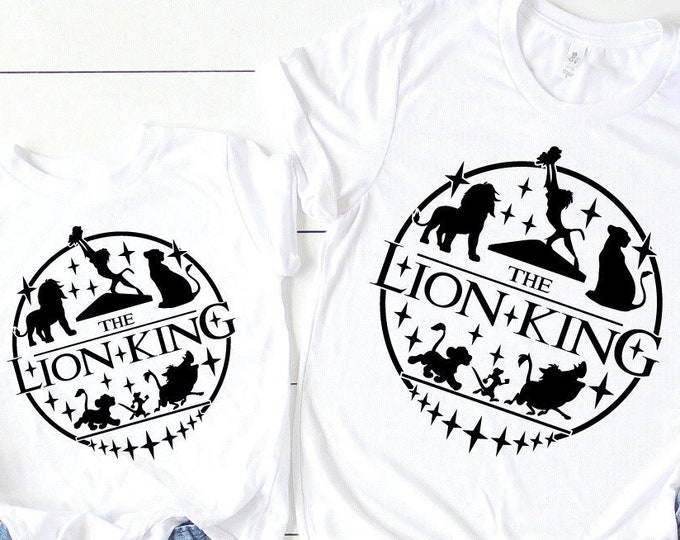 The Lion King - Circle of Life - Timon and Pumbaa- Adult and Youth Shirt sizes-Over 100 Color Choices, Tie-Dye