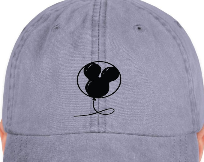 Disney Inspired Hat - Mickey Balloon - Disney Hat - Dad Hat - Magic Hat