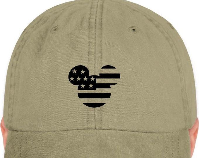 Disney Inspired Hat - Patriotic Mickey- American Mickey - Dad hat - Disney Hat