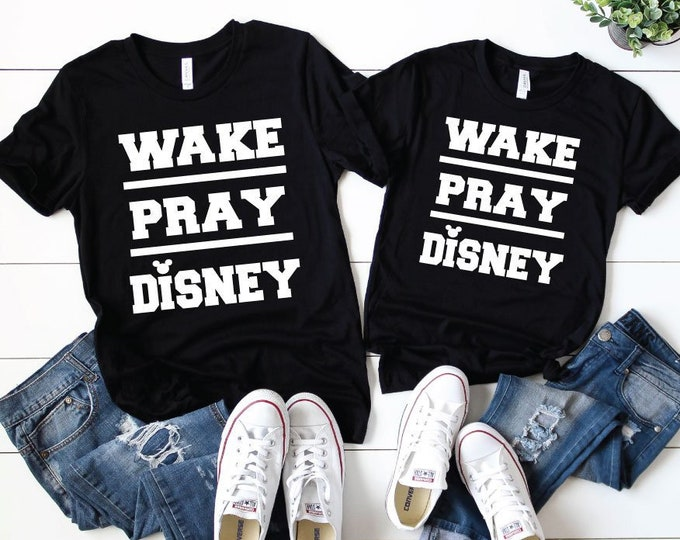Wake. Pray. Disney. -  Magical Vacation Tee - Adult, Youth, Toddler, and Tanks-Over 100 Color Choices