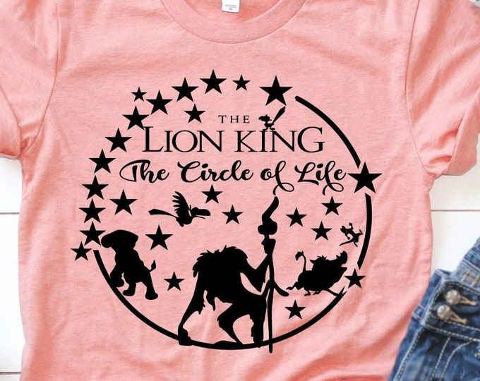 """The Lion King """"The Circle of Life"""" - The Lion King - Simba - Magical Vacation Tee - Adult, Youth, Toddler, and Tanks-Over 100 Color Choices"""