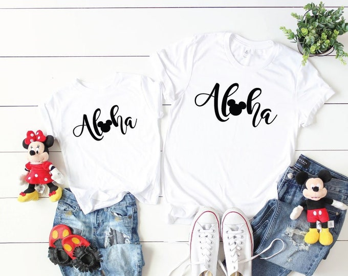 Mickey Aloha - Magical Vacation Tee - Adult, Youth, Toddler, and Tanks-Over 100 Color Choices