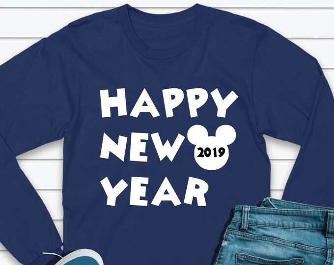 Happy New Year 2019 - Disney HNY2019 - Adult and Youth sizes