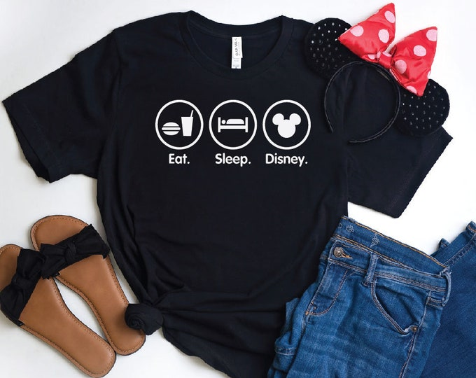 Eat, Sleep, Disney-  Magical Vacation Tee - Adult, Youth, Toddler, and Tanks-Over 100 Color Choices