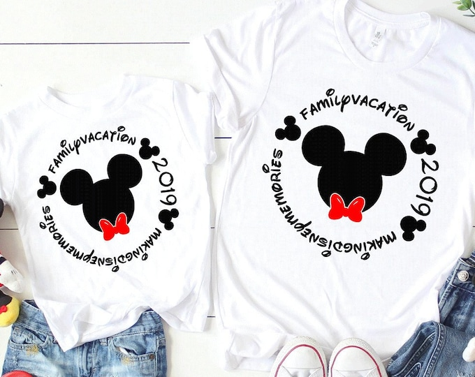 Making Disney Memories Family Vacation Tee - Adult, Youth, Toddler, and Tanks-Over 100 Color Choices