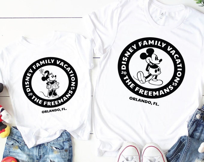 Retro Mickey Minnie -  Disney Vacation Tee - Adult, Youth, Toddler, and Tanks-Over 100 Color Choices