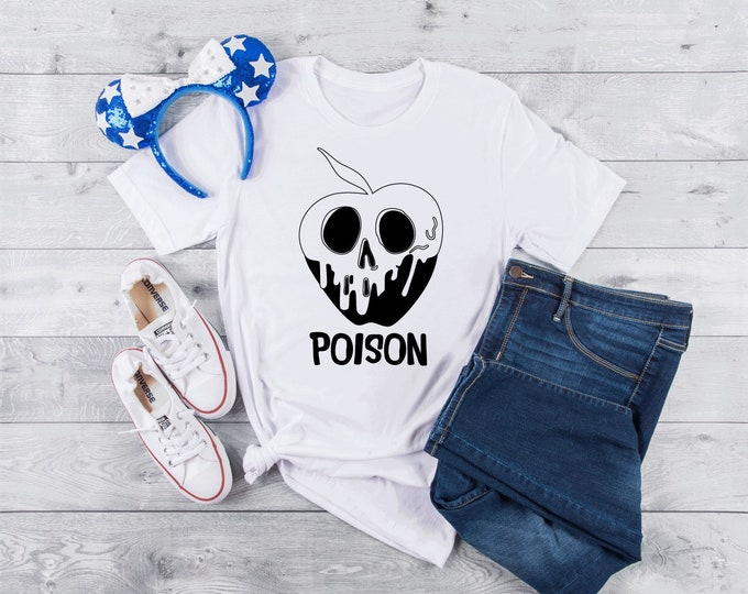 Snow White Poison Apple Shirt - Adult, Youth, Toddler, and Tanks-Over 100 Color Choices
