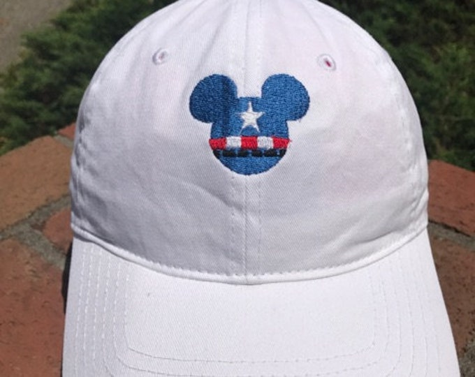 online retailer fc190 5676f Disney Inspired Marvel Dad Hat - Captain America and nine more to pick from