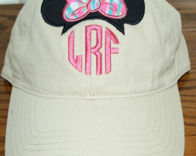 New Lilly Patterns**Lilly Pulitzer and Minnie - applique baseball cap