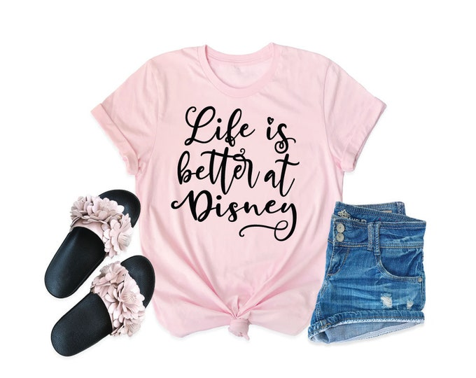 Life is Better at Disney -  Magical Vacation Tee - Adult, Youth, Toddler, and Tanks-Over 100 Color Choices