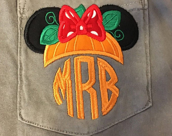 LONG SLEEVE  - Ms. Mouse Pumpkin Ears - perfect for Halloween in the park