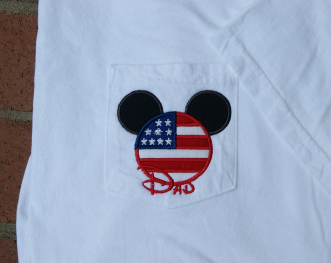 LONG SLEEVE - Mr. Mouse Patriotic Ear