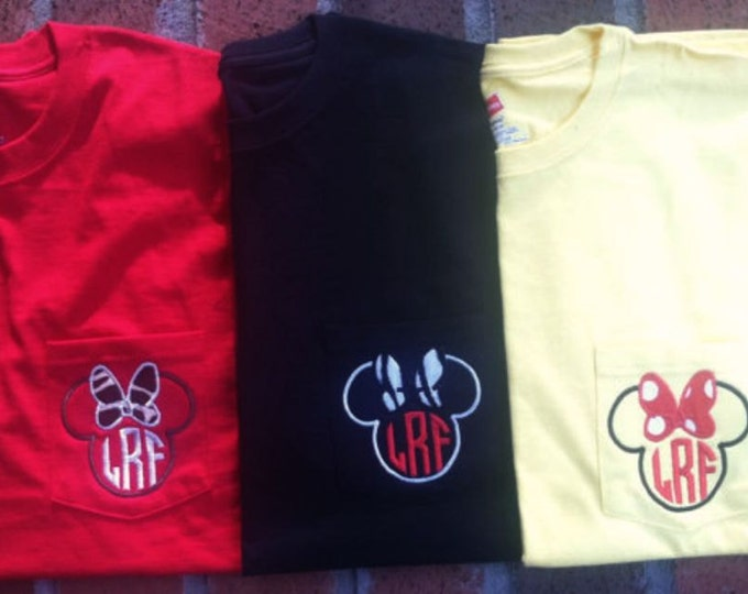 Inspired by the Mouse pocket tees - youth and adult sizes