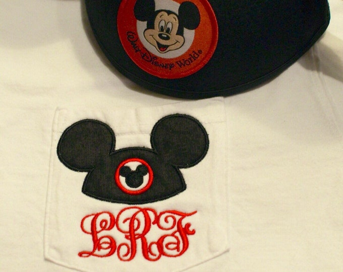Mickey Mouse Club House hat design on comfort colors pocket tee