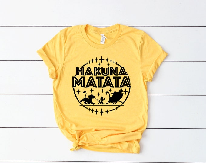 The Lion King Hakuna Matata - Adult and Youth Shirt sizes
