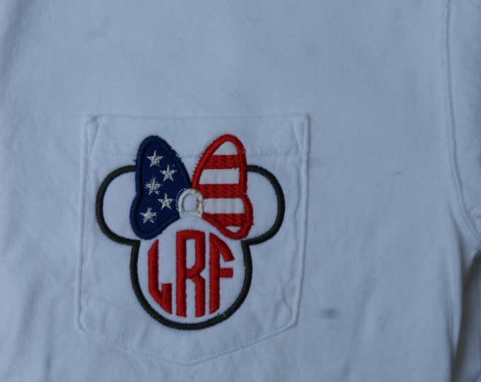 LONG SLEEVE Ms. Mouse Patriotic Ear