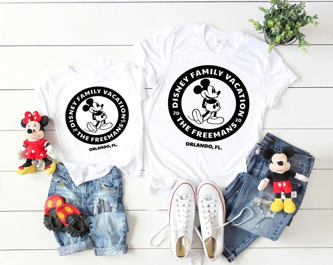 Retro Mickey Minnie 2020 Family Vacation -  Disney Vacation Tee - Adult, Youth, Toddler, and Tanks-Over 100 Color Choices