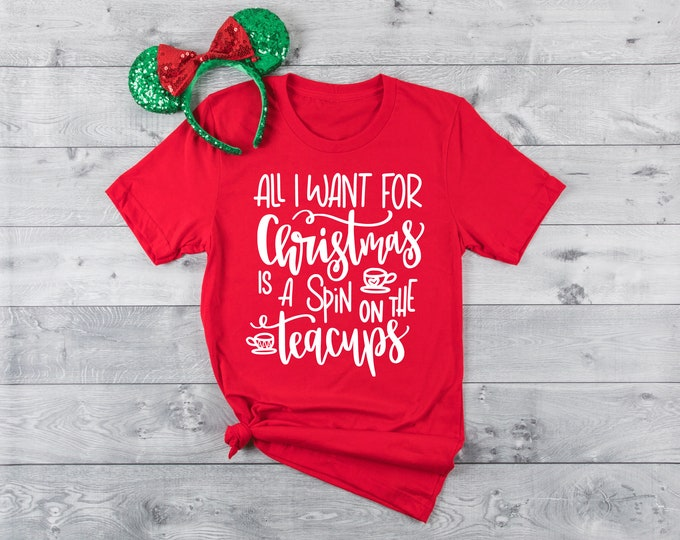 Christmas Tee Cups -  Magical Vacation Tee - Adult and Youth sizes