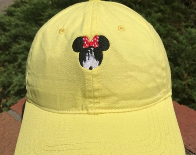 Disney Inspired Dad Hat - Mrs. Mouse ears and Magic Kingdom