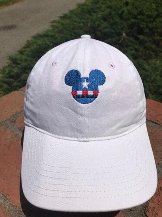 6373efc7245 Disney Inspired Marvel Dad Hat Captain America and nine