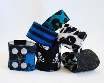 Reversible Cuff - choose between skulls, leopard, stripes and more