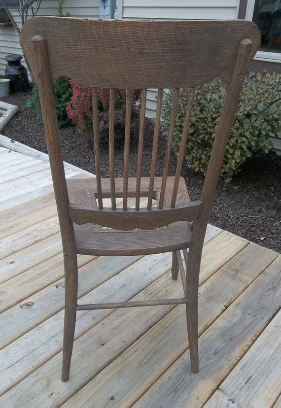 Cool Antique All Wooden Chair Vintage Wood Chair Aged Beautifully Missing Wicker Seat Insert 38H Antique Desk Chair Farmhouse Chair Farm Fresh Lamtechconsult Wood Chair Design Ideas Lamtechconsultcom