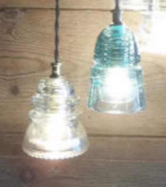 Reclaimed Barnwood Ceiling Box Chandelier Glass Insulator Light Fixture FARMHOUSE Barn Wood 6 Small Vintage Glass Insulator Pendant Lights