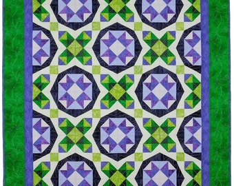 Magic Stars - Lap Size Quilt - Printed Pattern