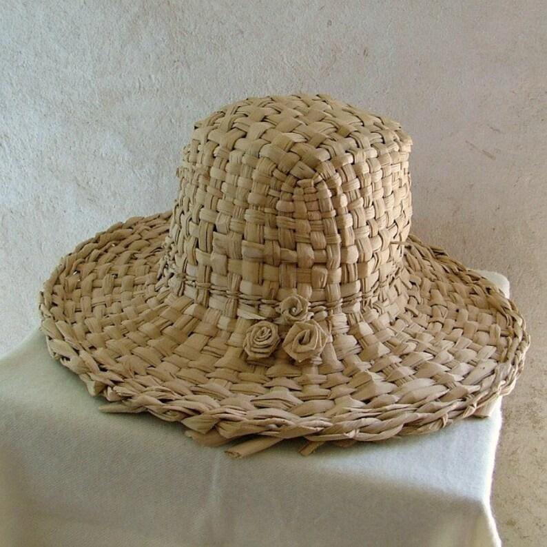 Sombrero de paja tejido a mano Alón verano sombrero  3395318a7b9