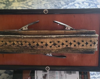 Antique Turn-of-the-Century Concertina Squeeze Box Accordian