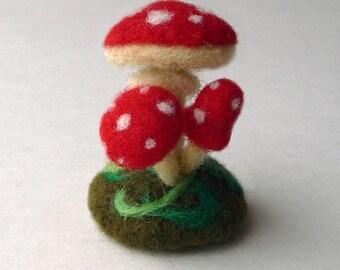 Mushroom fly agaric - felt miniature