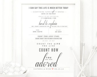 Collective soul etsy collective soul adored grey and blush valentines wedding gift cotton paper anniversary gift song lyrics art print stopboris Gallery