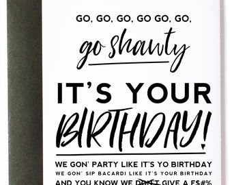 "50 Cent, ""Party Like It's Your Birthday"" Birthday Greeting Card"