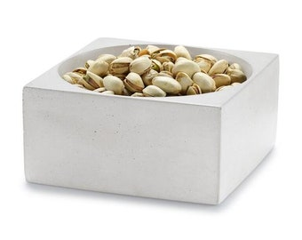 Concrete Square Bowl / Bowl / Catch-All / Nut Dish / Candy Dish / Jewelry Holder