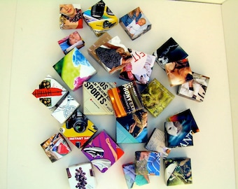 """Small """"Hip to be Square"""" Origami Gift Boxes. Perfect for Wedding Favors, Corporate Gifting or Jewelry or Treasure  Storage"""