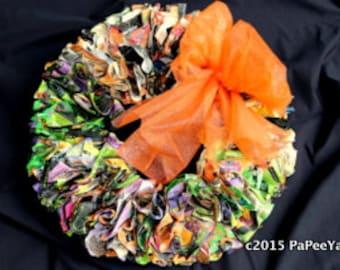 Halloween Hanging Paper Wreath
