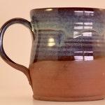 Handmade XL Unique Pottery Mug Multi Colour (Blue/Brown/Raw) 16oz