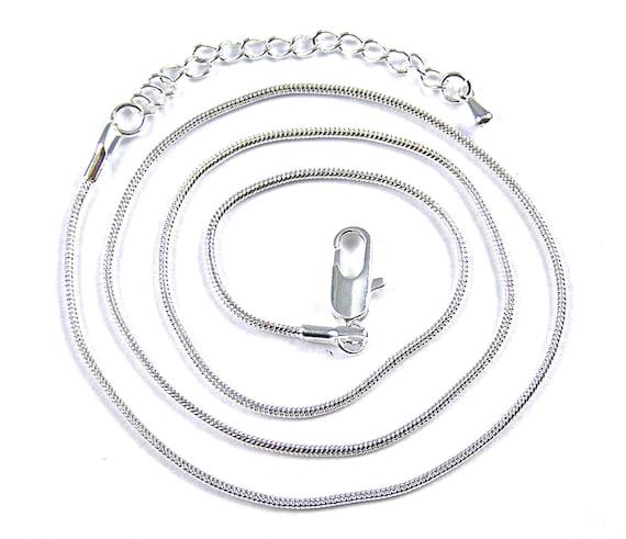 """30/"""" Wholesale 10pcs 1.2 mm Sterling 925 Plaqué Argent Chaîne Serpent Collier 16/"""""""