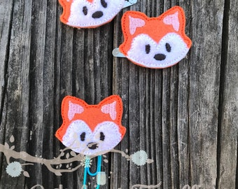 Fox planner and hair clips
