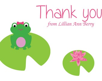 Thank You Note Cards 8ct Bright Color Tree Frogs