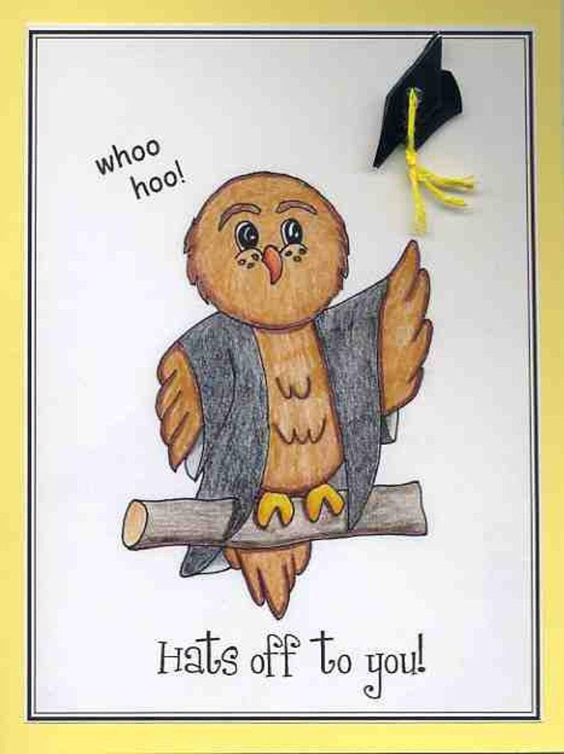 Card for Graduate Owl graduation Card Junior High Graduation Graduation Congratulations Card